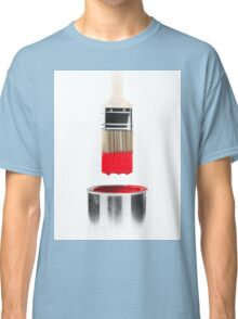 Brush Dipped in Red Paint T-shirt design Classic T-Shirt