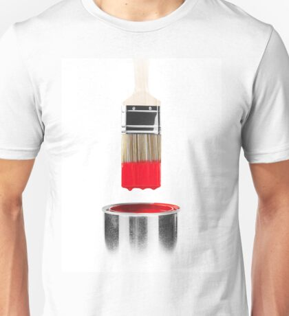 Brush Dipped in Red Paint T-shirt design Unisex T-Shirt