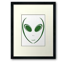 Alien 12 Green Framed Print