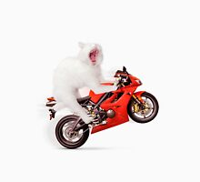 Kitty on a Motorcycle Doing a Wheelie T-shirt design T-Shirt