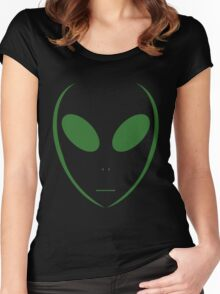 Alien 13 Green Women's Fitted Scoop T-Shirt