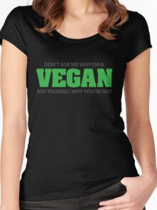 Don't ask me why I'm a vegan, ask yourself why you're not Women's Fitted Scoop T-Shirt
