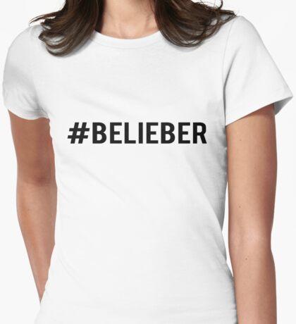 #Belieber Womens Fitted T-Shirt