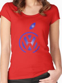 volkswagen and apple Women's Fitted Scoop T-Shirt