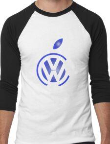 volkswagen and apple Men's Baseball ¾ T-Shirt