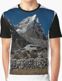 Stone House - Foothills of Everest.  Graphic T-Shirt