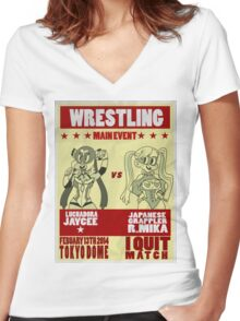 Jaycee VS R. Mika Women's Fitted V-Neck T-Shirt