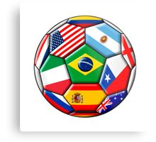 Brazil 2014 - soccer with various flags Metal Print