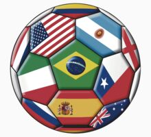 Brazil 2014 - soccer with various flags T-Shirt