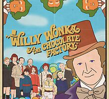 Willy Wonka and the Chocolate Factory Poster by FinlayMcNevin