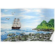 Seacost (classical oil painting for posters and prints) Poster