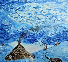 Polar landscape (classical oil painting for posters and prints) by konovalenko