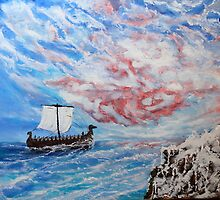 Wind rose (classical oil painting for posters and prints) by konovalenko