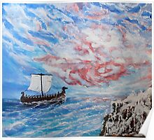 Wind rose (classical oil painting for posters and prints) Poster