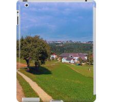 Old tree, small village, beautiful panorama | landscape photography iPad Case/Skin