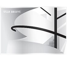 Villa Savoye à Poissy, interior Poster