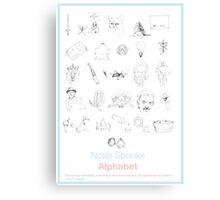 Spooks Alphabet Canvas Print