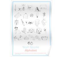 Spooks Alphabet Poster