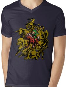 Majora's Mask - Gold Mens V-Neck T-Shirt