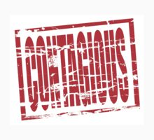 Contagious red rubber stamp effect Kids Clothes
