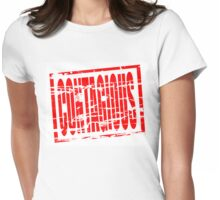 Contagious red rubber stamp effect Womens Fitted T-Shirt