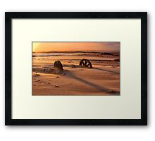 Doing cartwheels over the sunset Framed Print