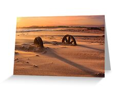 Doing cartwheels over the sunset Greeting Card