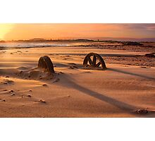 Doing cartwheels over the sunset Photographic Print
