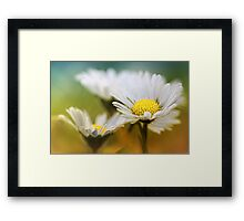 Having lots of fun together.... Framed Print