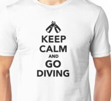 Keep calm and go Diving Unisex T-Shirt