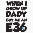 When I grow up dady buy me an E36 by GKuzmanov