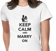 Keep calm and marry on Womens Fitted T-Shirt
