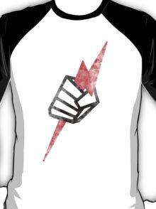 "Pride ""Fist"" Distressed - Black on White T-Shirt"