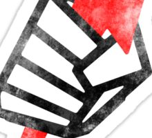 "Pride ""Fist"" Distressed - Black on White Sticker"