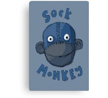 Crafty Sock Monkey Always Happy to See You ! Canvas Print