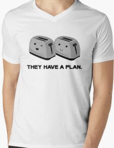 Toasters Mens V-Neck T-Shirt