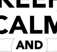 Keep calm and play Ping Pong Sticker
