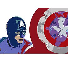 Captain America with Shield Photographic Print