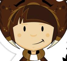 Cute Reindeer Kid Sticker