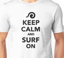 Keep calm and surf on Unisex T-Shirt