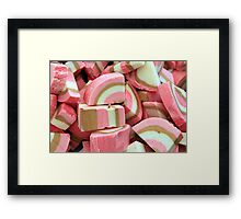 Coloured nougat Framed Print