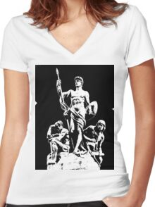 we are romans Women's Fitted V-Neck T-Shirt