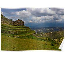 Inca Ruins On Mount Cojitambo, Ecuador Poster