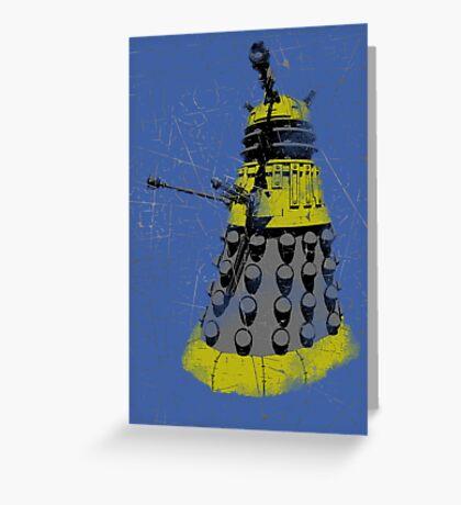 Vintage Look Half Tone Doctor Who Dalek Graphic Greeting Card