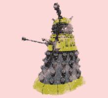Vintage Look Half Tone Doctor Who Dalek Graphic One Piece - Long Sleeve