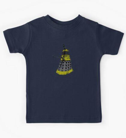 Vintage Look Half Tone Doctor Who Dalek Graphic Kids Tee