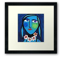 Blue Emma Framed Print