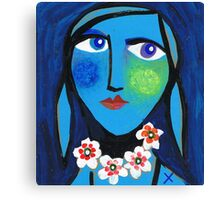Blue Emma Canvas Print
