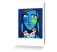 Blue Emma Greeting Card