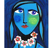 Blue Emma Photographic Print